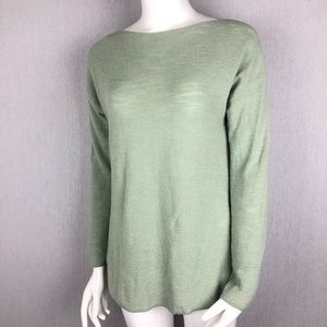 Lou & Grey Lightweight Green Sweater Size Small